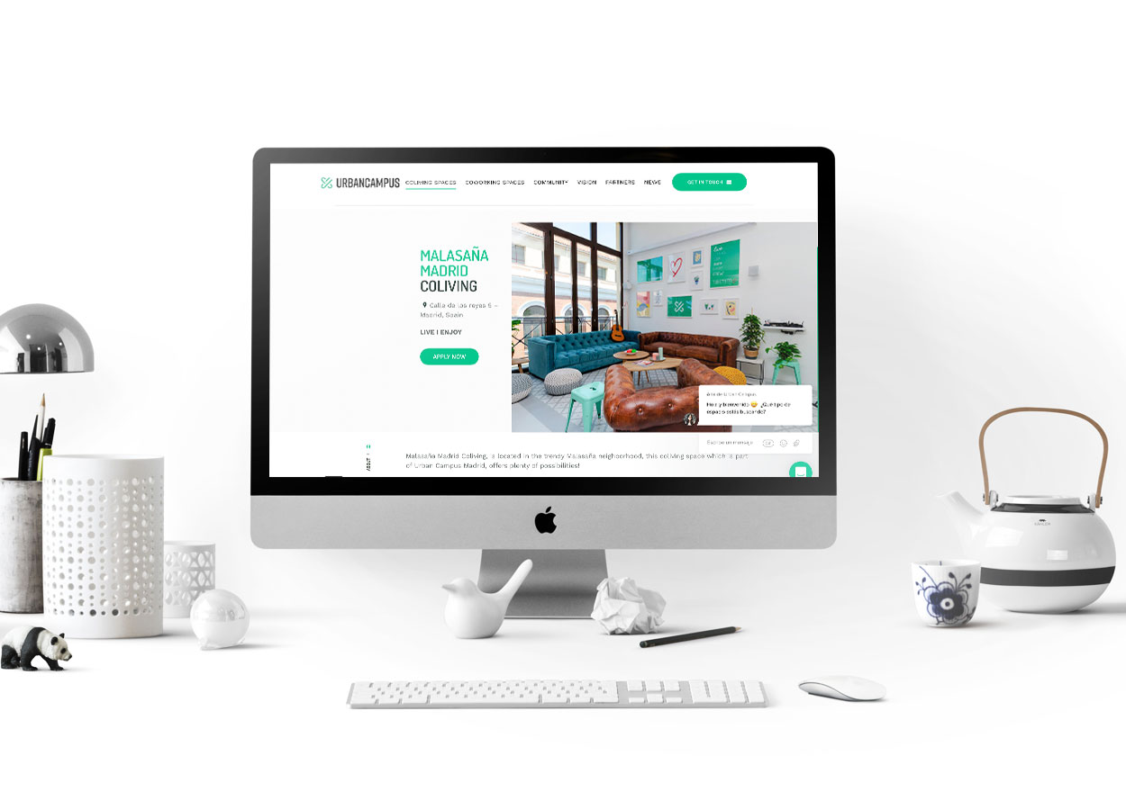 Coliving page Urban Campus